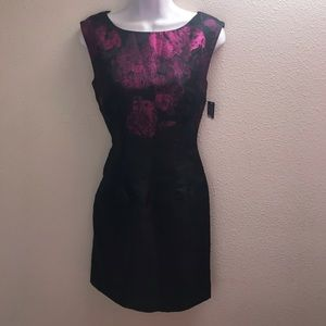 Tahari cocktail dress 4 sleeveless black